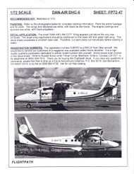 1/72 Scale Decal Dan-Air Link City Metropolitan DHC-6 Twin Otter