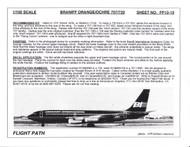 1/100 Scale Decal Braniff International 707 / 720 ORANGE / OCRE