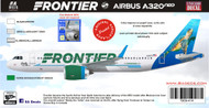1/144 Scale Decal Frontier A-320 NEO SHELLY THE TURTLE