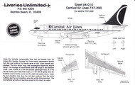 1/144 Scale Decal Carnival Airlines 737-200