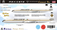 1/144 Scale Decal Mexicana Comet 4 Golden Aztec