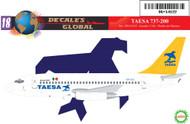 1/144 Scale Decal TAESA 737-200