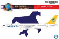 1/144 Scale Decal TAESA 757-200