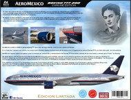 1/144 Scale Decal Aeromexico 777-200 Chrome Edition