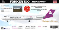 1/144 Scale Decal Mexicana Saltillo F-100 Purple MAT