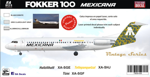 1/144 Scale Decal Mexicana Talavera F-100 Yellow