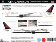 1/144 Scale Decal Air Canada 777-300ER 2018