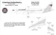 1/144 Scale Decal Air Inter A-320