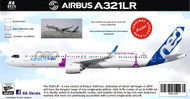 1/144 Scale Decal A-321 NEO LONG RANGE IN HOUSE COLORS