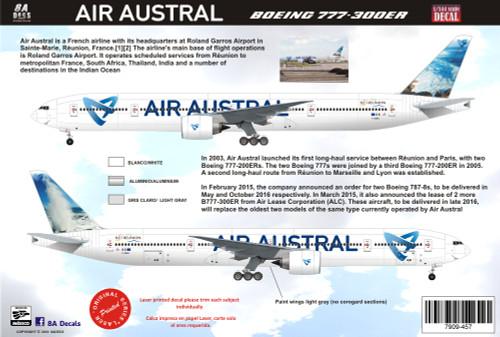 1/144 Scale Decal Air Austral 777-300 V2