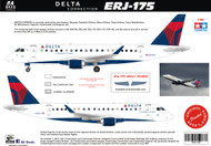 1/144 Scale Decal Delta Connection ERJ-175