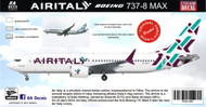 1/144 Scale Decal Air Italy 737-800 MAX