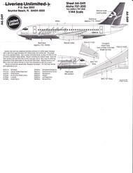 1/144 Scale Decal Aloha 737-200