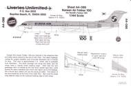 1/144 Scale Decal Korean Air F-100