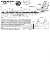 1/144 Scale Decal Transocean Stratocruiser