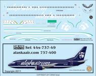 1/144 Scale Decal Alaskaair.com 737-400