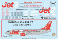 1/144 Scale Decal Jet2 737-300