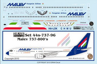 1/144 Scale Decal Malev 737-800