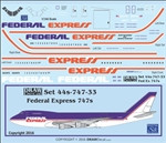 1/144 Scale Decal Federal Express 747-200