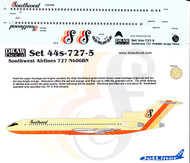 1/144 Scale Decal Southwest 727-200