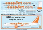 1/144 Scale Decal EasyJet A-320