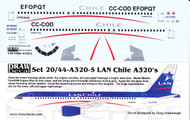 1/144 Scale Decal LAN Chile A-320