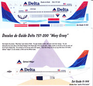 1/144 Scale Decal Delta 737-200