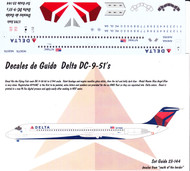 1/144 Scale Decal Delta DC9-51
