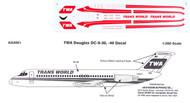 1/200 Scale Decal TWA DC9-30 / 40