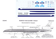 1/200 Scale Decal KLM DC-10 / MD-11