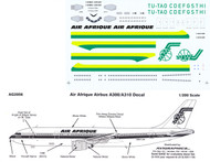 1/200 Scale Decal Air Afrique A-300 / A-310