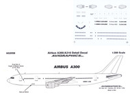1/200 Scale Decal Detail Sheet A-300 / A-310