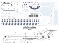1/72 Scale Decal 727 Detail Sheet