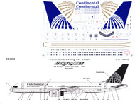 1/144 Scale Decal Continental 757