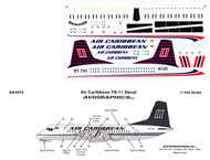 1/144 Scale Decal Air Caribbean YS-11
