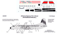 1/144 Scale Decal Airborne Express YS-11