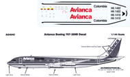 1/144 Scale Decal Avianca 707-300
