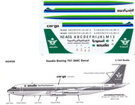 1/144 Scale Decal Saudia 707-300