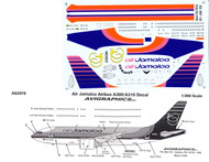 1/200 Scale Decal Air Jamaica A-300 / A-310