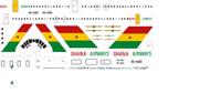 1/144 Scale Decal Ghana Airways VC-10