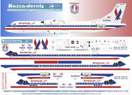 1/144 Scale Decal American Eagle ATR-72