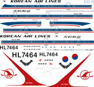 1/144 Scale Decal KAL 747