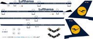 1/144 Scale Decal Lufthansa DC10-30