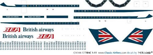 1/144 Scale Decal BEA / British Airways BAC-111