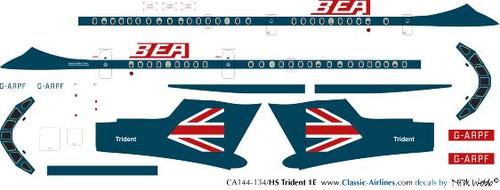 1/144 Scale Decal BEA Speedjack Trident