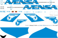 1/144 Scale Decal Avensa 727-200 Experimental