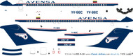 1/144 Scale Decal Avensa DC9-30 Delivery