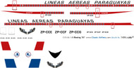 1/144 Scale Decal LAP Paraguay 707
