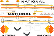 1/144 Scale Decal National 747
