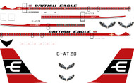 1/144 Scale Decal British Eagle 707